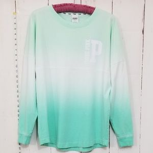 VS PInk white/green long sleeve oversized tee S